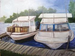 Art: Two Boats   by Artist Barbara Haviland
