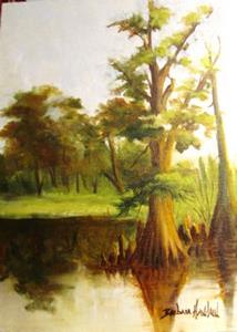 Detail Image for art Cow Bayou at Kenny's
