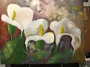 Detail Image for art Three Calla Lilies