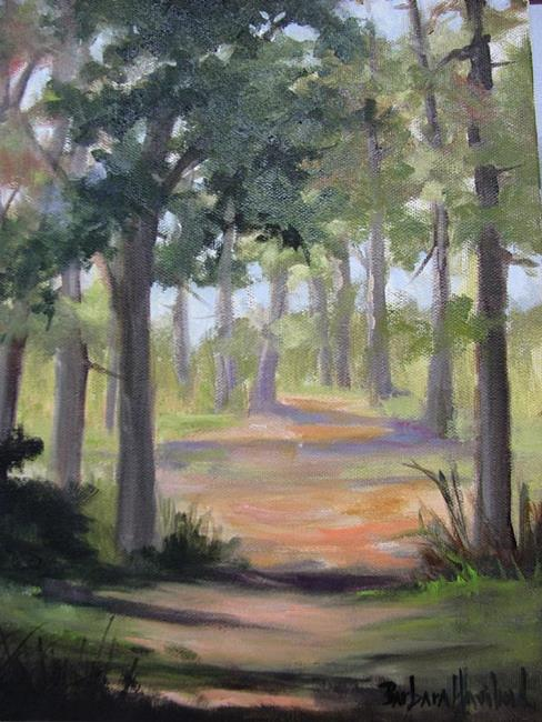 Art: Dirt Path  Plein Aire by Artist Barbara Haviland