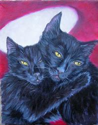 Art: Sibs - Lyra and Will by Artist Tracey Allyn Greene