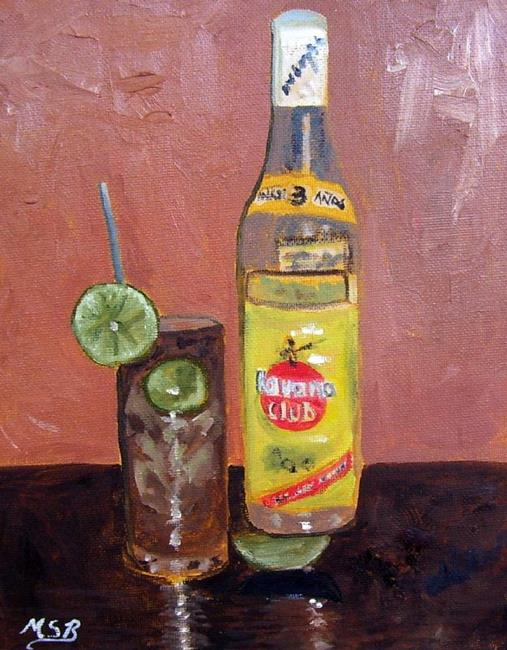 Art: Cuba Libre and Havana Club by Artist Maria Soto Robbins