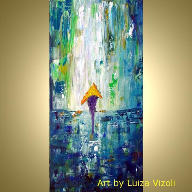 Art: YELLOW UMBRELLA by Artist LUIZA VIZOLI