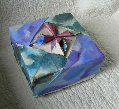 Art: Origami Watercolor Jewelry Box by Artist Naquaiya