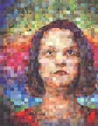 Art: Portrait of Cindy Agathocleous by Artist Jaye Coltharp