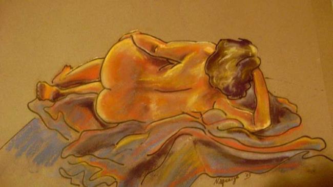 Art: Nude in Pastel pose 49 by Artist Naquaiya