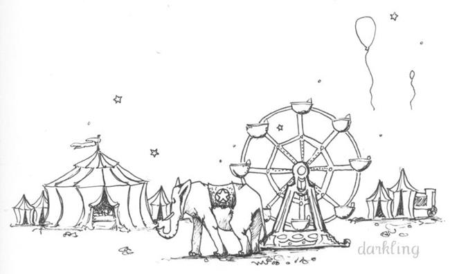 Art: Circus by Artist Emily J White