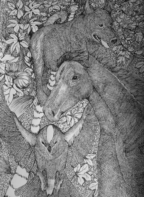 Art: Wild Above and Beyond by Artist Nata Romeo ArtistaDonna