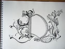Art: Letter D by Artist Chris Jeanguenat