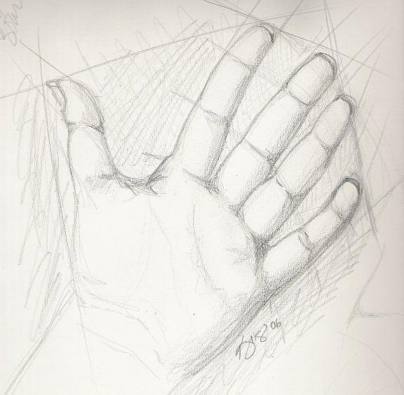 Art: My Hand by Artist Kris Jean