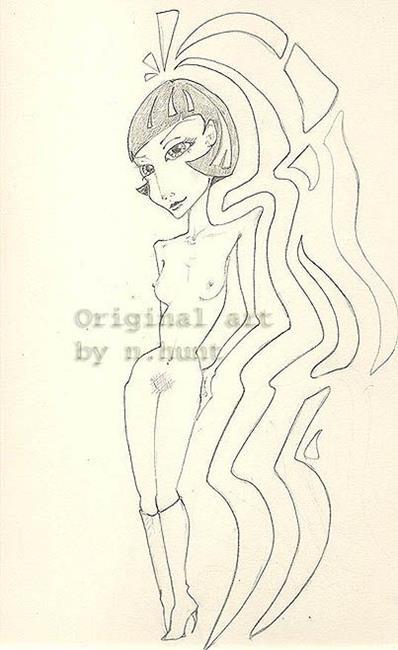 Art: female body image by Artist Noelle Hunt
