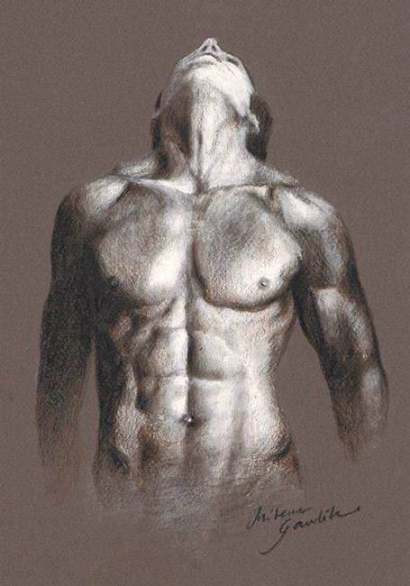 Art: Male Torso by Artist Milena Gawlik