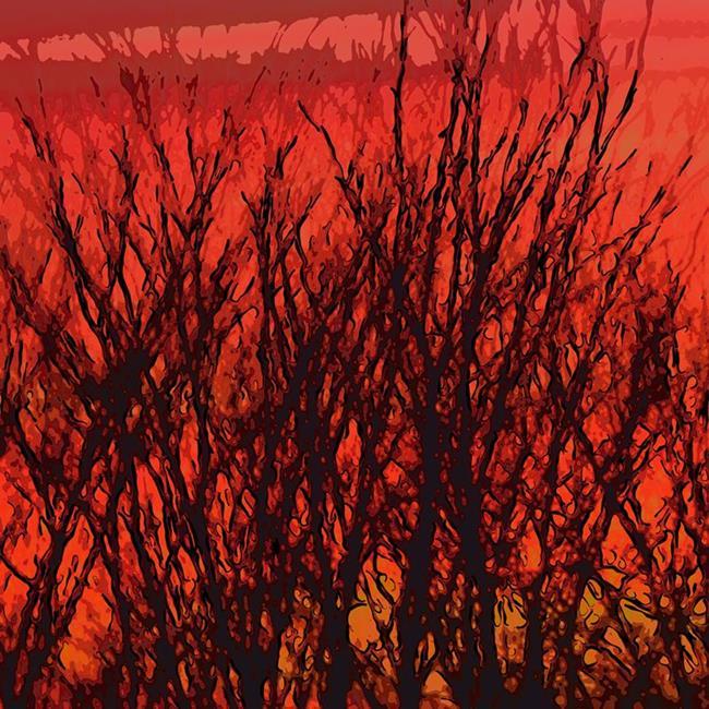 Art: Sunset Sillohuette by Artist Deanne Flouton