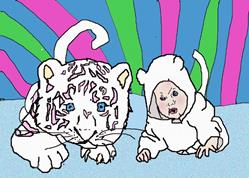 Art: sugar tiger babies by Artist Confuzzled Shannon