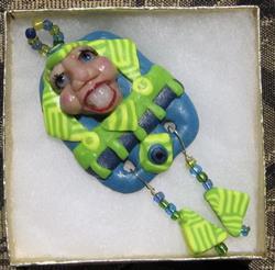 Art: K.ROB Art Doll Pendant #379 by Artist Ke Robinson