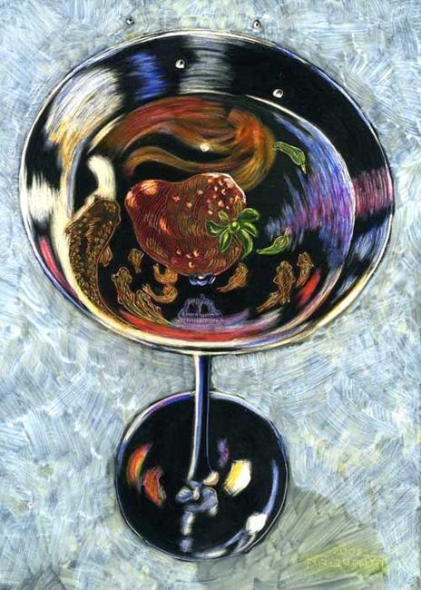 Art: Strawberry Martini by Artist Naquaiya