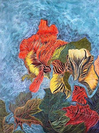 Art: Abstract Iris by Artist Naquaiya