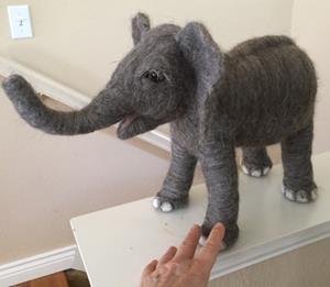 Detail Image for art Needle Felted Baby Elephant