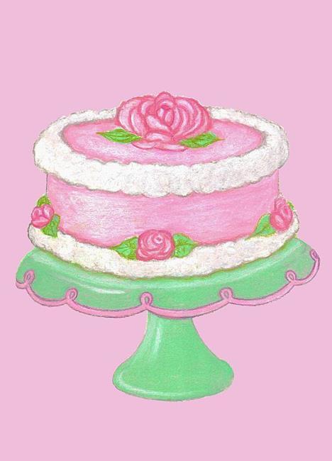 Art: cakepinkbk (2).jpg by Artist Paula M Parker