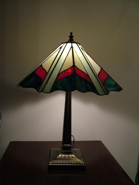stained glass tiffany style lamp by linda j mcgarvey from glass art. Black Bedroom Furniture Sets. Home Design Ideas