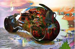 Art: The PopArt Bat Cycle by Artist Mario Carini