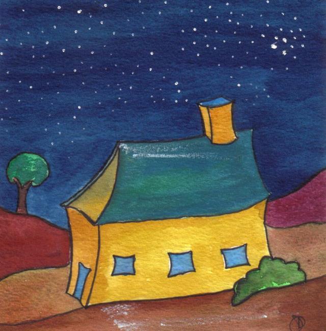 Art: LITTLE HOUSE by Artist Dawn Barker
