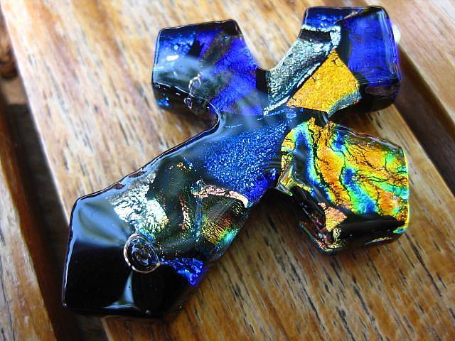 Art: Cross of colors by Artist Drita Harris