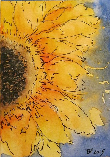 Art: Sunflower - SOLD by Artist Bonnie Pankhurst