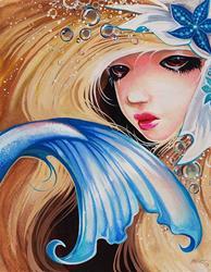 Art: Blue Starfish Maid by Artist Nico Niemi