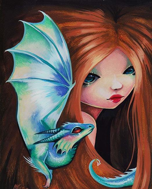 Art: My Little Dragonette by Artist Nico Niemi