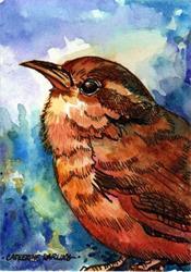 Art: Little Brown Bird by Artist Catherine Darling Hostetter