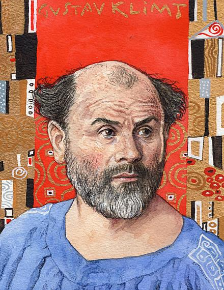 Art: Gustav Klimt by Artist Mark Satchwill