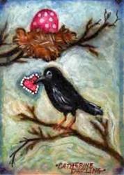 Art: Love Birds by Artist Catherine Darling Hostetter