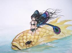 Art: Fairy and Goldfish by Artist Nico Niemi