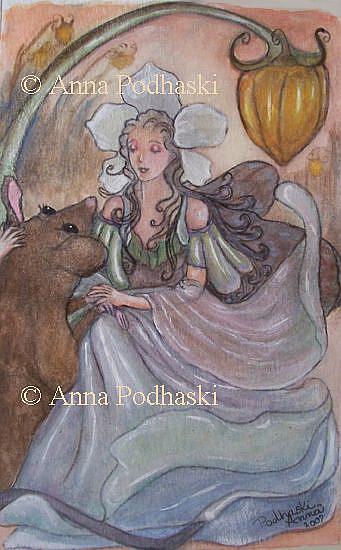 Art: Dearest Little Friend by Artist Anna Podhaski