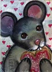 Art: Valentine Cookies by Artist Catherine Darling Hostetter