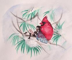 Art: My Cardinal by Artist Nico Niemi