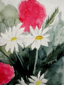 Detail Image for art unfinished daisies