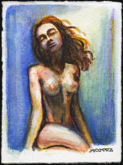 Art: ATC - Vintage Nude #1 by Artist Madeline  Carol Matz