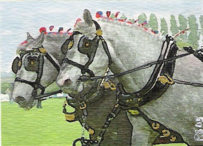 Art: Dapple Greys by Artist Peggi M Sargent