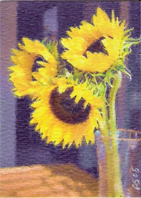 Art: Sunflowers by Artist Peggi M Sargent