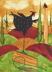 Art: CHICKEN A LA CARTE by Artist Debi Hubbs