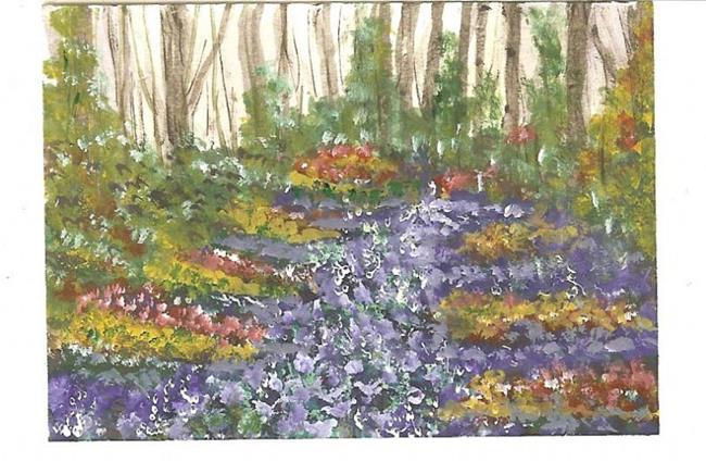 Art: Muscari blanket by Artist Nata Romeo ArtistaDonna