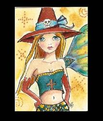 Art: Witchy Mermaid ACEO by Artist Betty Stoumbos