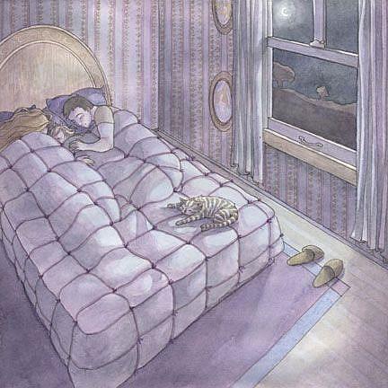 Art: Calm Night by Artist Sara Burrier