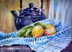 Art: Tea and Lenons  by Artist Pamela K Wilhelm