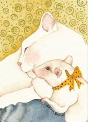 Art: BEST FRIENDS by Artist Gretchen Del Rio