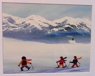 Art: Twenty Below (sold) by Artist Kathy Crawshay