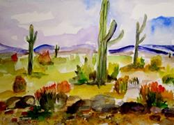 Art: Southwestern Landscape by Artist Delilah Smith