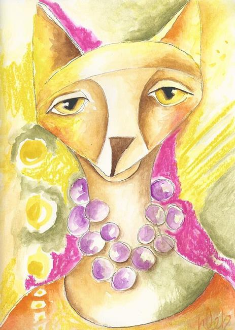 Art: Foxy Lady by Artist Deb Harvey